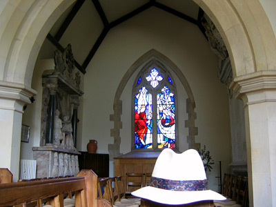 Inside St Mary the Virgin church at Friston