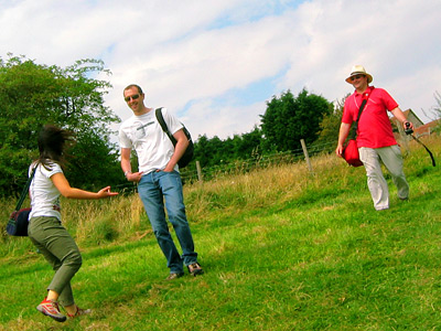 English Country Walks group at Hobb's Eares near East Dean village, East Sussex