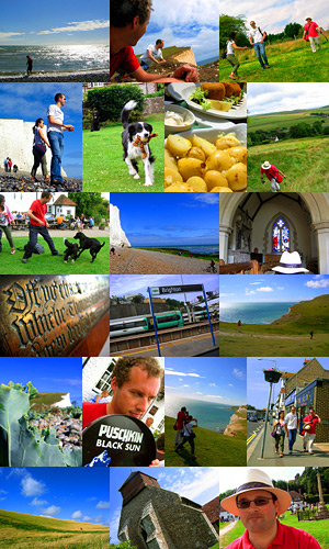 White Cliffs walk photo montage from Sunday August 12, 2007