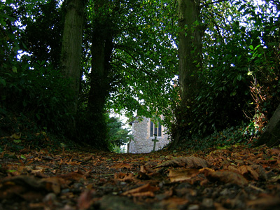 Path to Inworth church