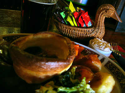 Roast beef and Yorkshire pudding at The Swan, Little Totham, Essex