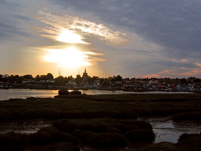 Sunset over the River Blackwater at Maldon, Essex