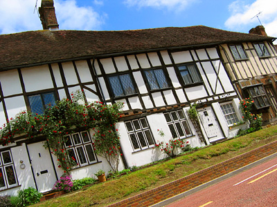 Tudor houses, Robertsbridge, East Sussex, England, Britain, UK