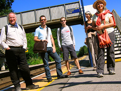 English Country Walks group at Robertsbridge station in East Sussex
