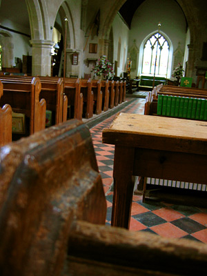 Inside Salehurst church
