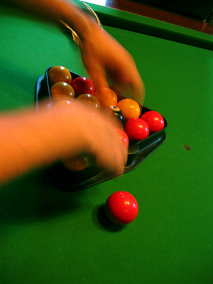 A game of pool at The Ostrich in Robertsbridge