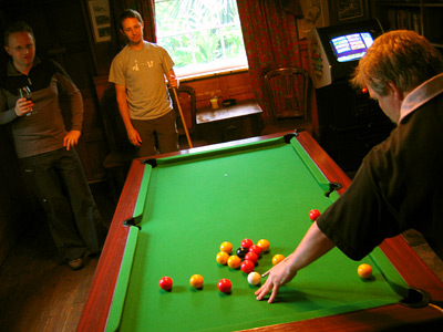 Playing pool at The Ostrich in Robertsbridge