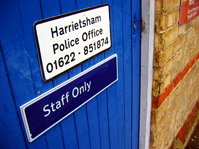 Police office at Harrietsham station