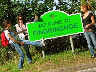 Welcome to Fingringhoe sign