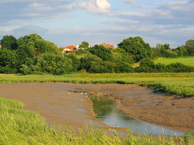 Low tide on the Roman River between Fingringhoe and Rowhedge