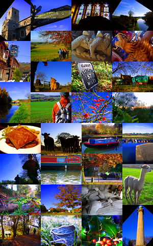 Photo montage of Aldbury and Grand Union Canal circular walk