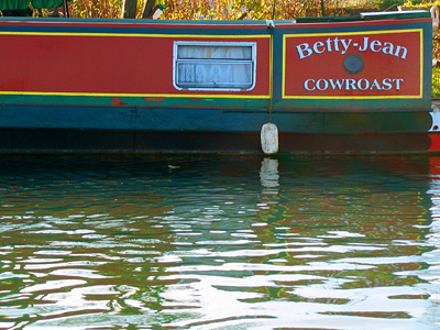 Canal boat Betty Jean at Cow Roast