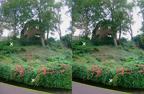 Dunster Castle 3D stereo pair