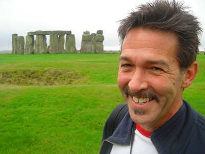 Brad at Stonehenge, October 2007