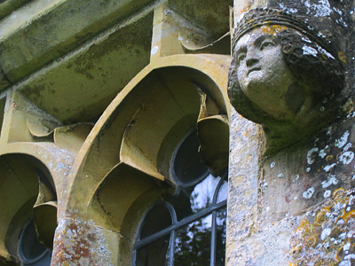 Gargoyle or hunkypunk, parish church, Middle Woodford