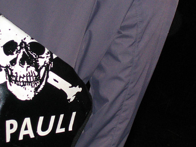 St Pauli bag with skull and crossbones insignia