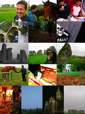Stonehenge to Salisbury walk, Autumn 2007, photo montage