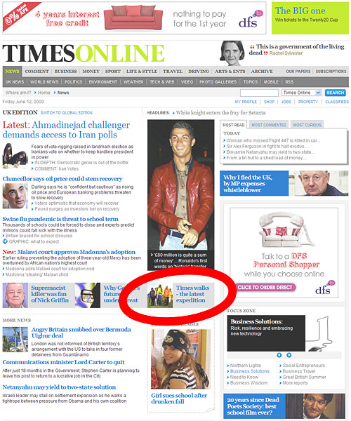 times-online-front-page-2009-06-12
