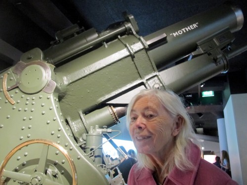 Mom and her namesake Howitzer. Photo by Benjamin Wenk.