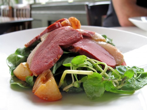 This was lunch -- the duck salad at The Ship on Kennington Lane.