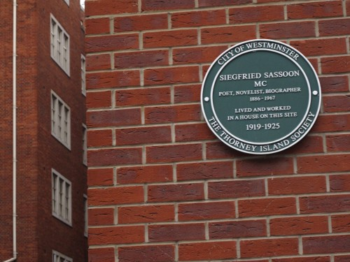 The famous First World War poet Siegfried Sassoon lived here in Westminster.